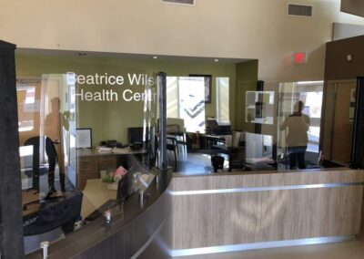 Medical office custom bio-barrier installation, to protect employees and clients