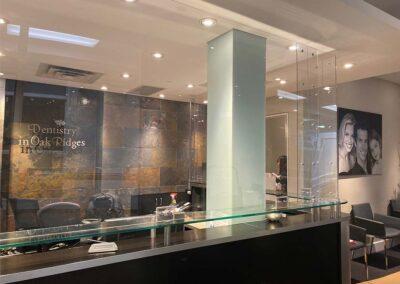 Dentist Office Sneeze Shield Installation